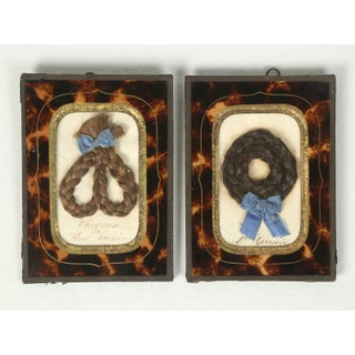 Antique French Faux Tortoiseshell Glass Picture Frames - Set of 6 Preview