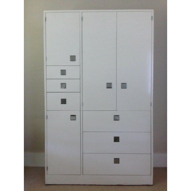 White Lacquer Armoire by Directional - Image 2 of 4
