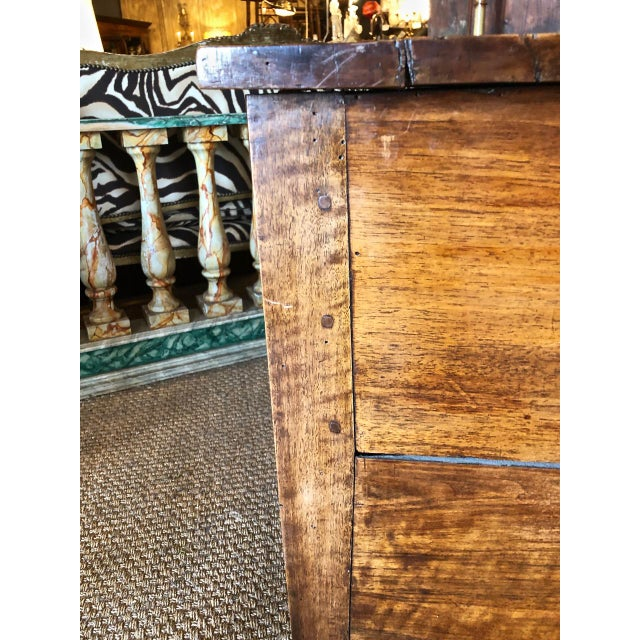 Italian Walnut Neoclassical Chest of Drawers For Sale In Los Angeles - Image 6 of 12