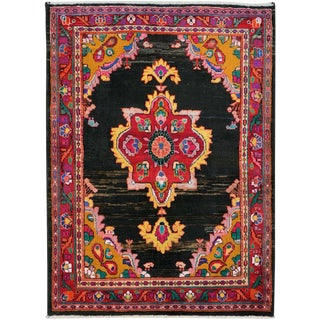 "Vintage Persian Mahal Rug – Size: 3' 6"" X 4' 10"" For Sale"