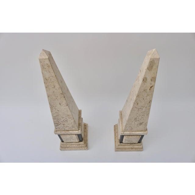 Tan & Black Marble Obelisk For Sale - Image 4 of 11
