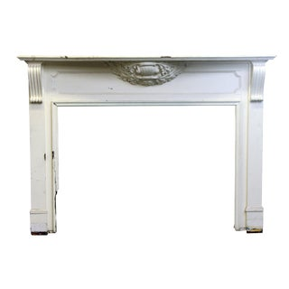 Carved White Wood Mantel