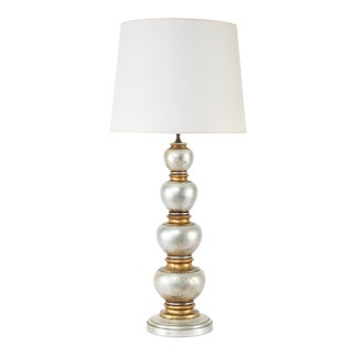 Glamorous Silver and Gold Leaf Table Lamp by Frederick Cooper Studios, Circa 1940s For Sale