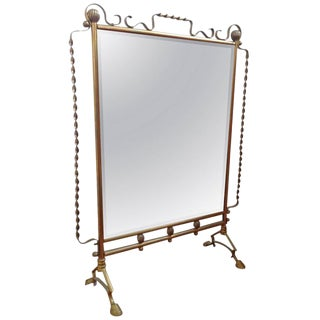 French Mirrored Fire Screen in the Style of Raymond Subes For Sale