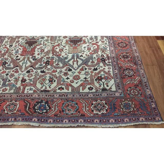 Antique Persian Bakshaish Rug For Sale - Image 4 of 4