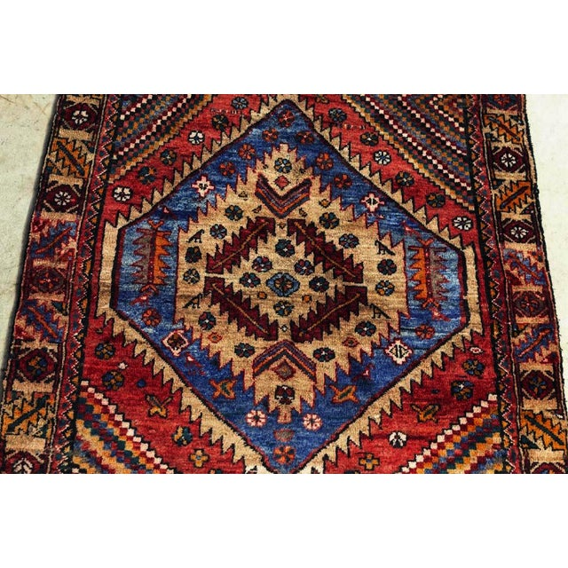 Islamic Vintage Persian Kazak Floor Runner-3'5'x9'8' For Sale - Image 3 of 10