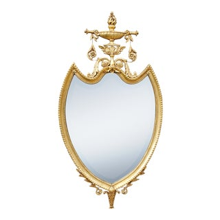 "Friedman Brothers Shield Form "" the Knightbridge"" Giltwood Mirror For Sale"