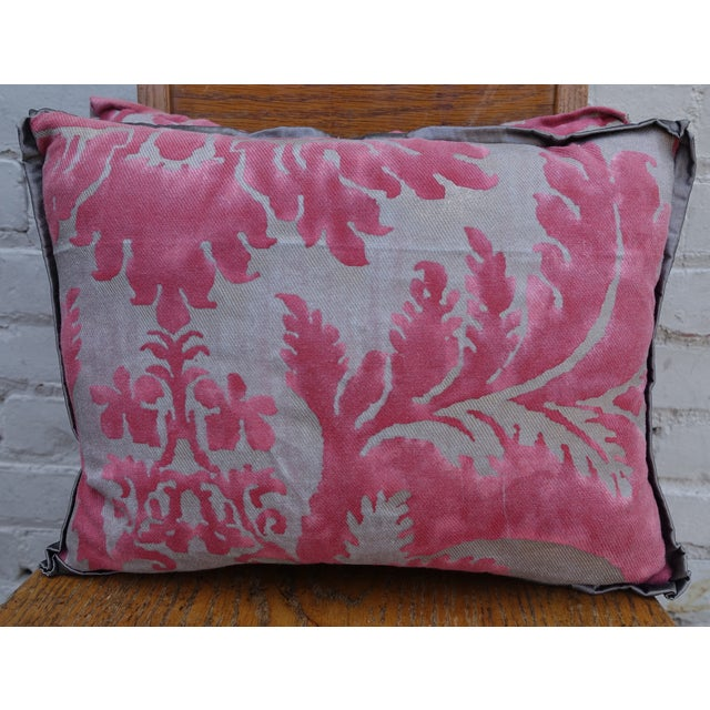Pink & Silver/Gold Fortuny Pillow - A Pair - Image 2 of 4