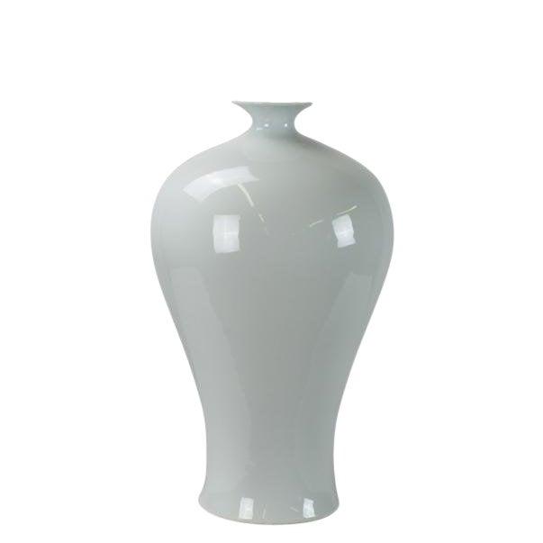 Large Asian Style White Porcelain Vase For Sale
