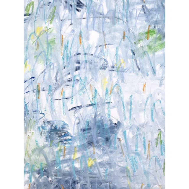 "2020s Sarah Trundle Contemporary Abstract Painting, ""Across the Pond"" For Sale - Image 5 of 6"
