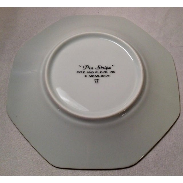 "1978 Fitz & Floyd Vintage China Table Service in Pinstripe ""Buff""-New/Old Stock, Set of 24pcs (8settings) For Sale - Image 9 of 13"