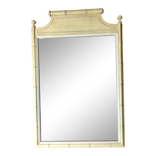 Henry Link Faux Bamboo Mirror For Sale