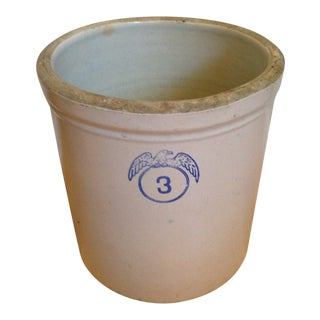 20th Century Farmhouse Stoneware Crock For Sale