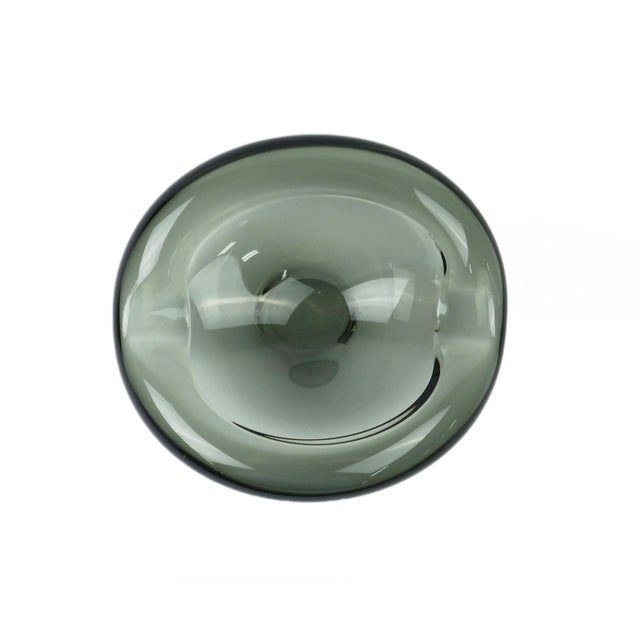 Glass Per Lutken for Holmegaard Akva Ashtray For Sale - Image 7 of 9