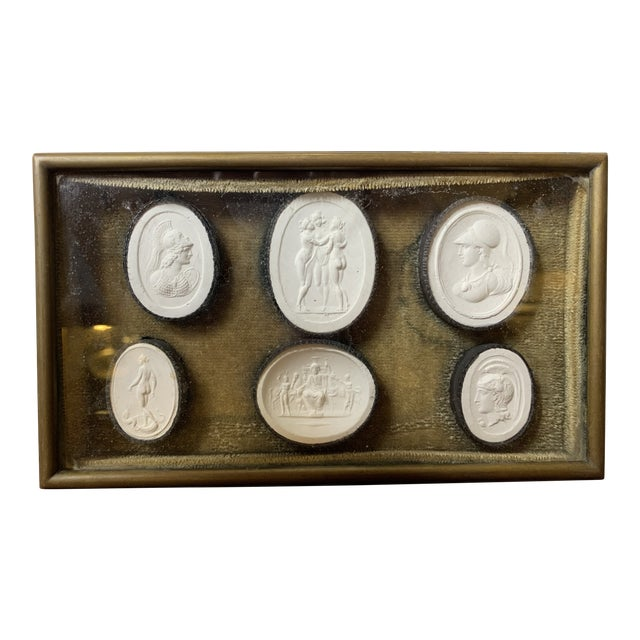 1810 Grand Tour Jewelry Box With Neoclassical Plaster Cameos For Sale