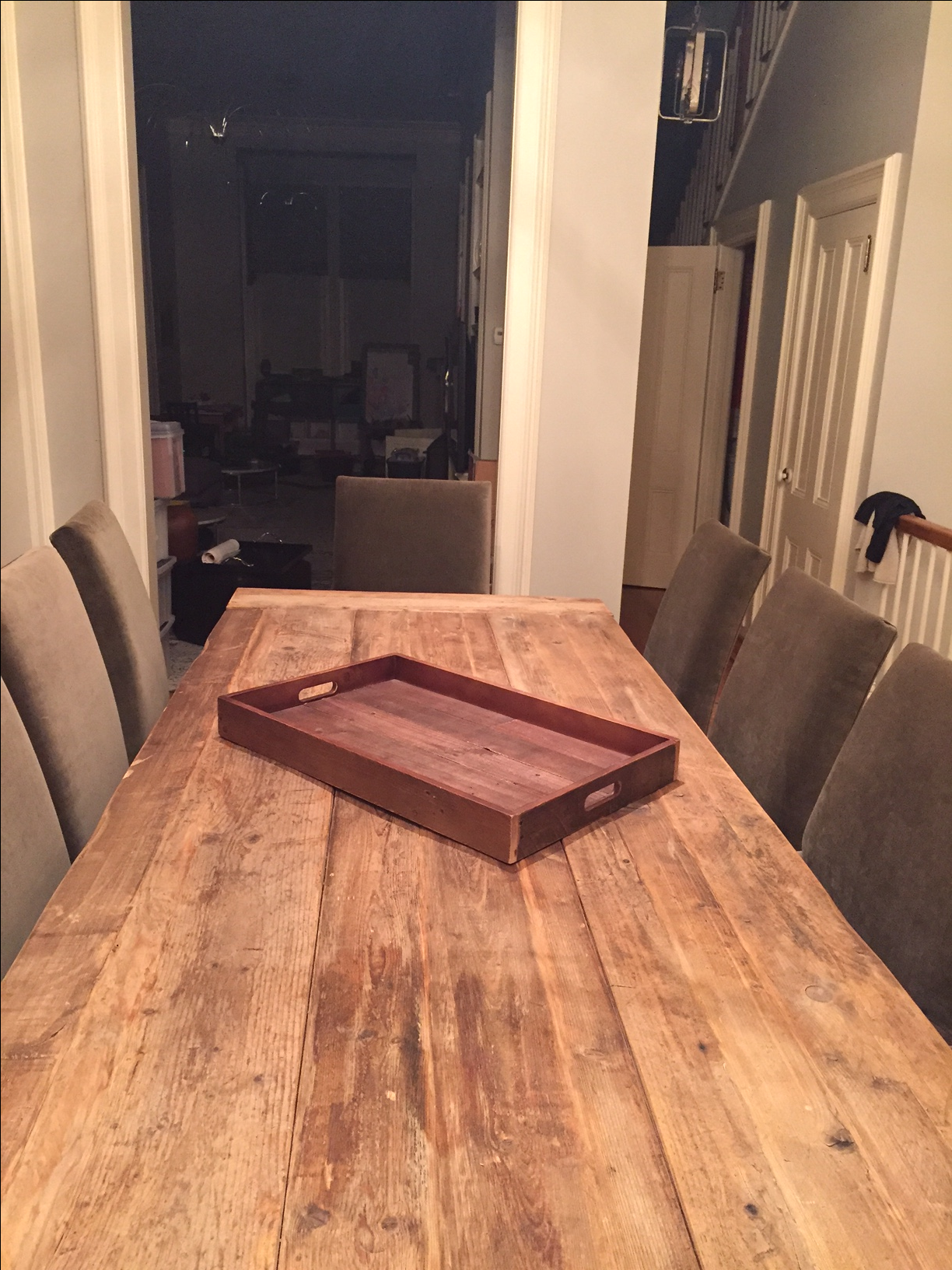 Restoration Hardware Salvaged Wood Trestle Table   Image 5 Of 11