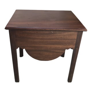 Antique Georgian Storage Top Mahogany Table For Sale