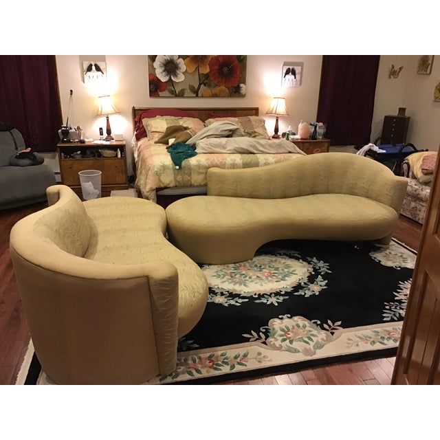 Weiman Weiman Golden Upholstered Sofas - A Pair For Sale - Image 4 of 11