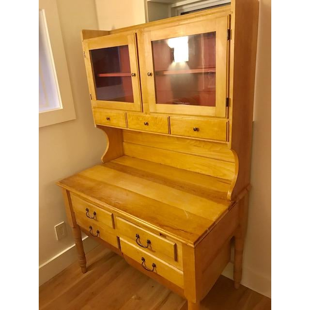 Americana Antique Maple Possum Belly Baker's Cabinet For Sale - Image 3 ... - Antique Maple Possum Belly Baker's Cabinet Chairish