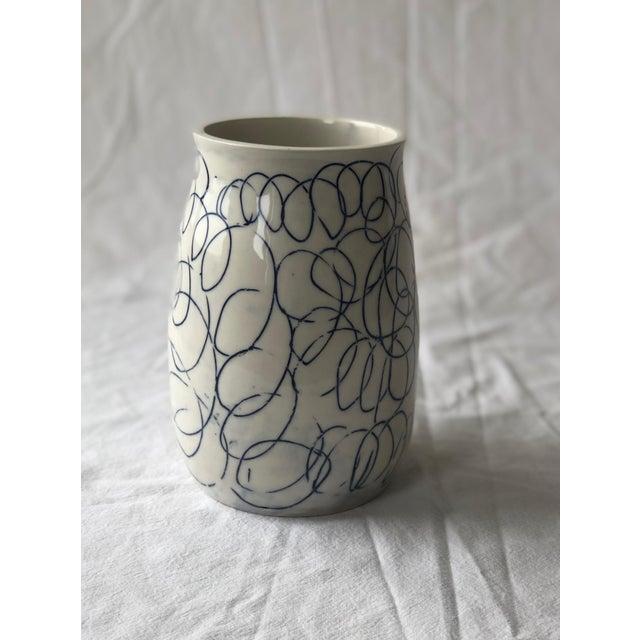2010s Cobalt Loop the Loop Vase For Sale - Image 5 of 5