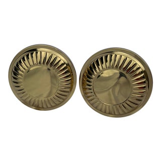 Vintage Mid-Century Solid Brass Tie Backs - a Pair For Sale