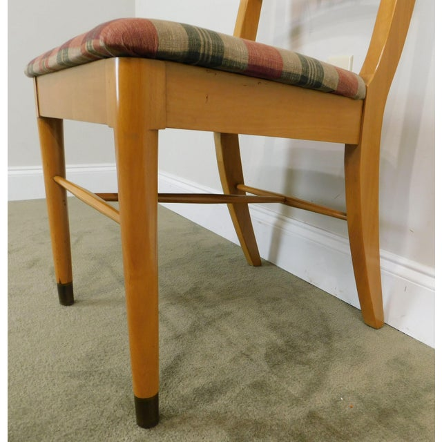 "Milo Baughman for Drexel ""New Today's Living"" Mid Century Modern Set 6 Blonde Dining Chairs For Sale - Image 10 of 13"