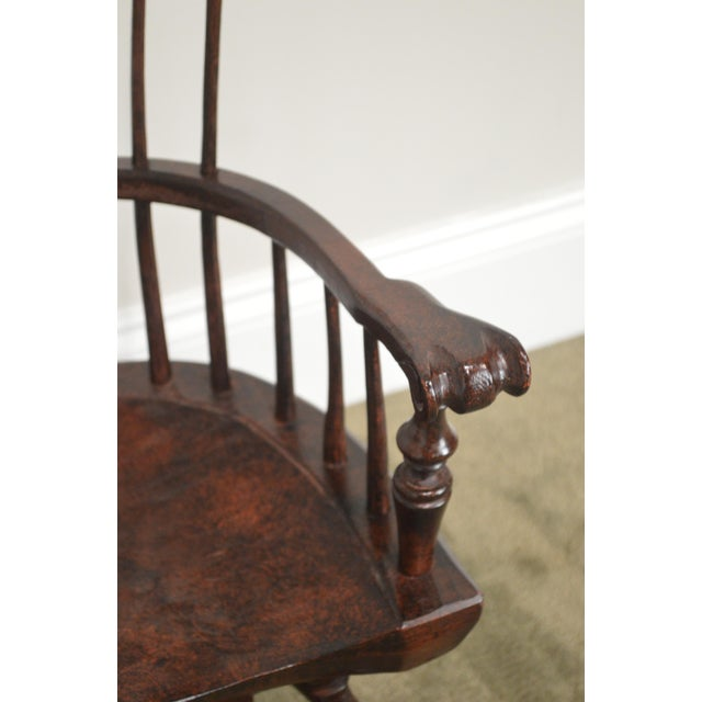 Wood Windsor Style Miniature Childs Writing Arm Chair by K. Malone (18th Century Reproduction) For Sale - Image 7 of 13