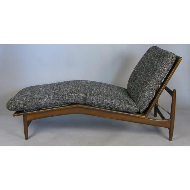 Wood 1960s Vintage Danish Adjustable Chaise Lounge by Ib Kofod-Larsen For Sale - Image 7 of 10