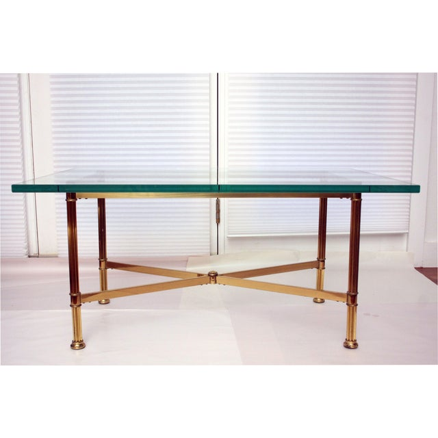 La Barge Style Brass Cocktail Table - Image 2 of 8