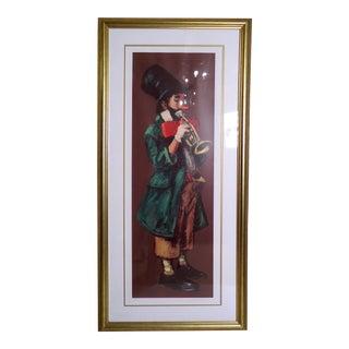 Vintage Modern Leighton Jones Clown Print For Sale