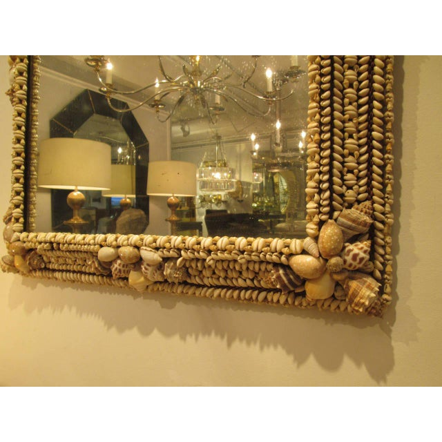 Mid 20th Century Hand-Crafted Shell Mirror For Sale - Image 5 of 7