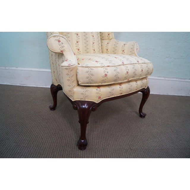 Queen Anne Style 18th Century Wing Chair - Image 6 of 10