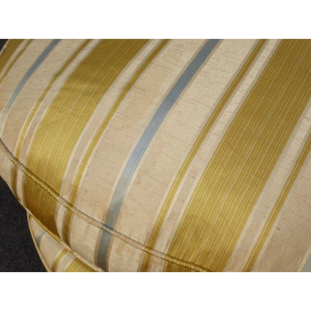 Blue Vintage Baker French Provincial Gold Chaise Lounge Goose Down Cushion For Sale - Image 8 of 11