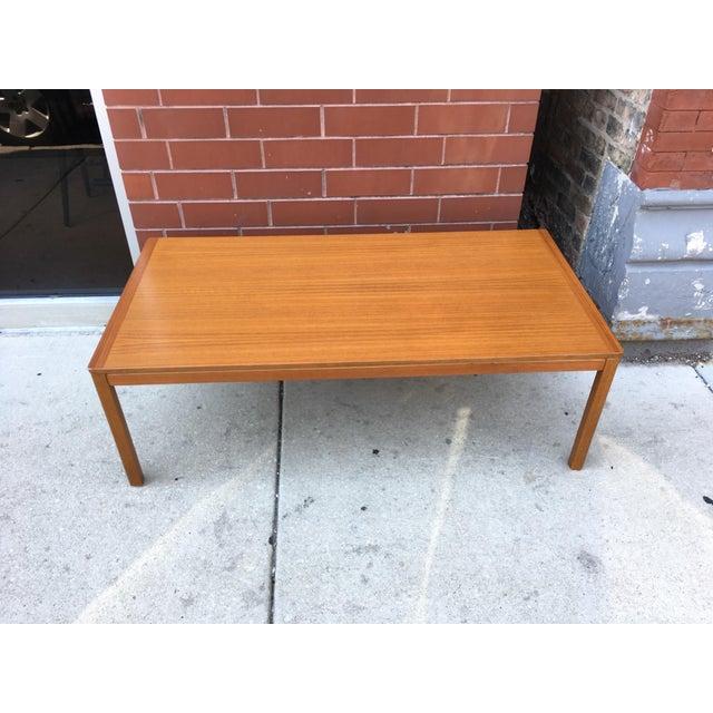 Brown Norwegian Mid-Century Teak Coffee Table For Sale - Image 8 of 8
