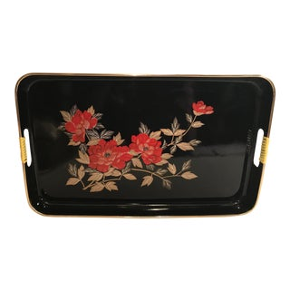 Vintage Japanese Laquered Tray For Sale