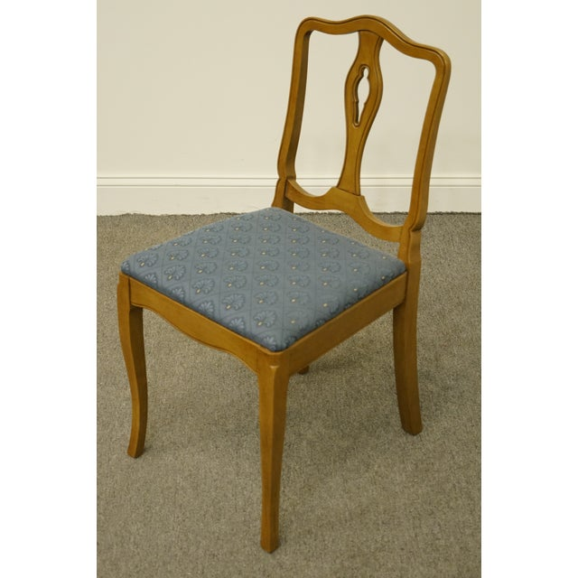 Drexel Heritage Late 20th Century Vintage Drexel Heritage Country French Regency Side Chair For Sale - Image 4 of 11