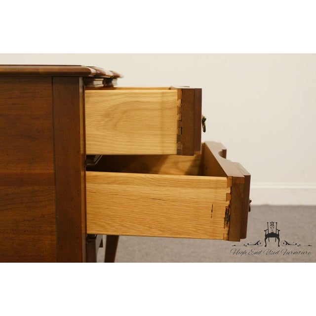 Brown 20th Century Traditional Wells Furniture Cherry Blockfront Lowboy Chest For Sale - Image 8 of 13