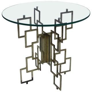 Interlocking Brass Side Table For Sale