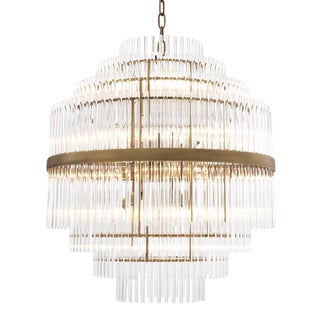 Glass Layered Chandelier | Eichholtz East For Sale