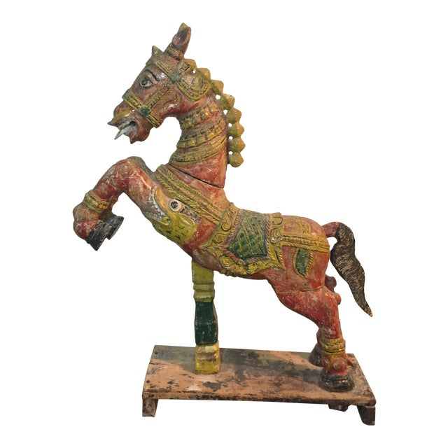 Indian Painted Wood Horse - Image 1 of 11