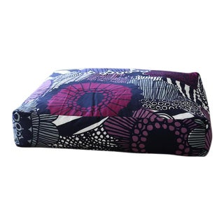 Marimekko Siirtolapuutarha Violet Floor Pillow 32 X 32 For Sale