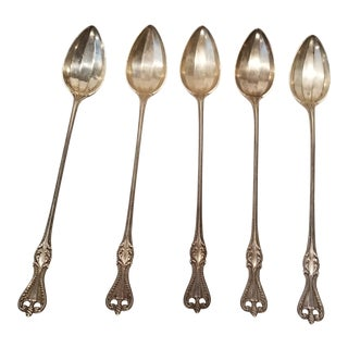 """Set of Five """"Old Colonial """" Towle Ice Tea Spoons For Sale"""