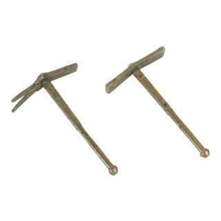 Moroccan Brass Berber Sugar Hammers - A Pair For Sale