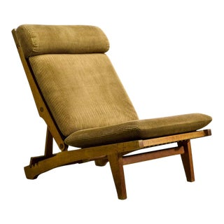Magnificent Mid-Century Design Oakwood Folding Lounge Deck Chair AP71 by Hans J. Wegner for AP Stolen, 1968 For Sale