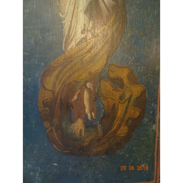 Blue 19th Century Italian Painted Wood Panels For Sale - Image 8 of 13