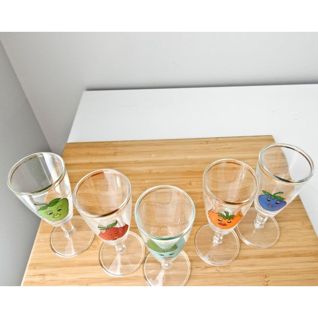 Cordial Fruit Face Shot Glasses - Set of 5 - Image 3 of 7