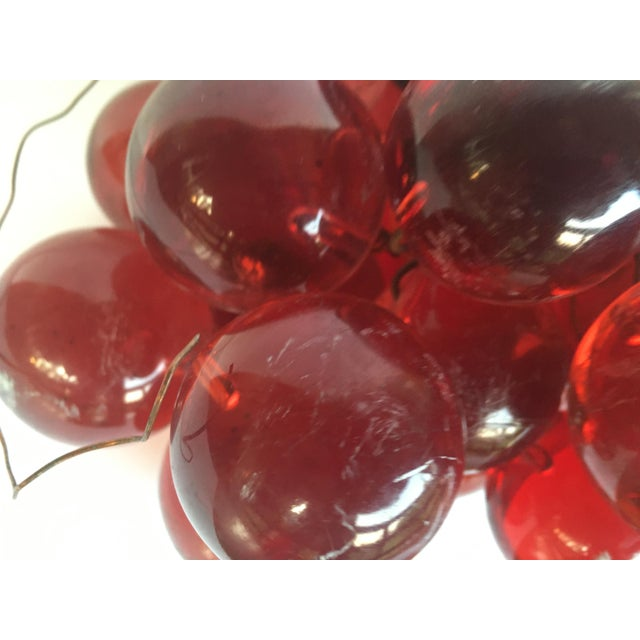 Ruby Red 1960's Bunch of Lucite Ruby Red Grapes For Sale - Image 8 of 10