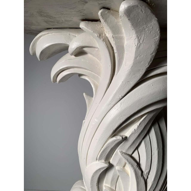 Vintage Plaster Console in manner of Serge Roche For Sale - Image 10 of 13