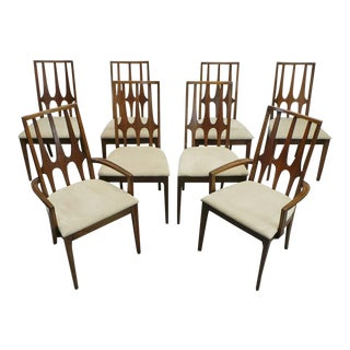 Broyhill Brasilia Walnut Dining Chairs - Set of 8 For Sale
