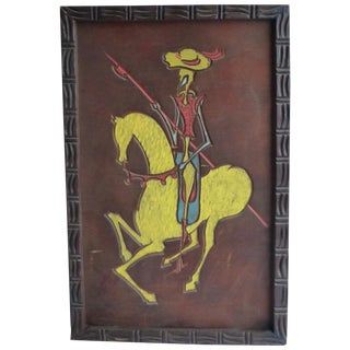 Large California Red Wood Carving of Don Quixote For Sale